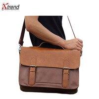 High Grade Leather Crossbody Bag Men Fashion Vintage Messenger Bags Large Shoulder Bag Travel Business Solid