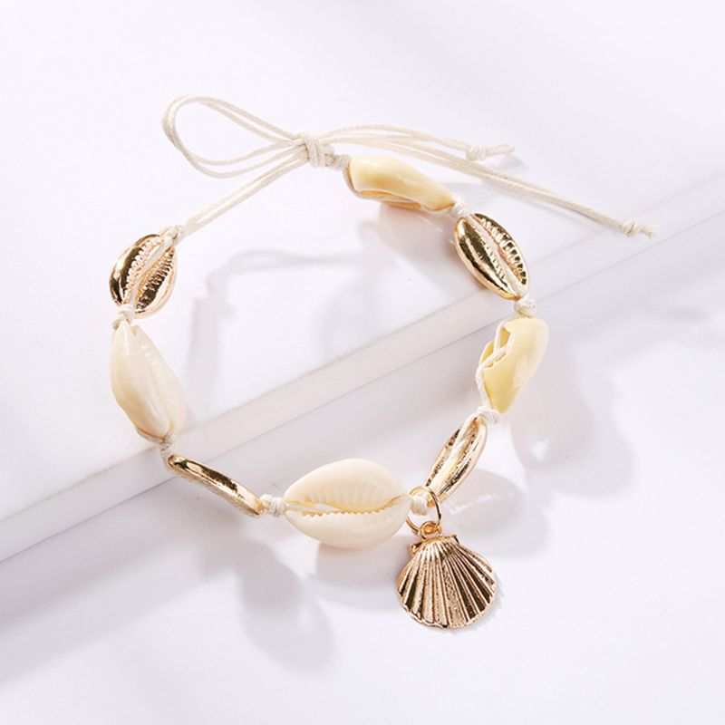 Lady Girls Ankle Chain Anklet Charms Handmade Shell Pendant Conch Decoration Adjustable Women Barefoot Decor Jewelry Gifts in Anklets from Jewelry Accessories