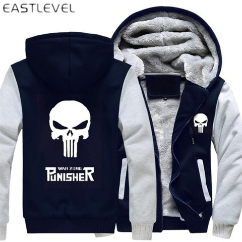 Dropshipping Men Hoodies Punisher Skull Casual Hoodies for Men Women Thicker Fleece Coat Jacket Unisex Sweatshirts plus size 6XL Pakistan