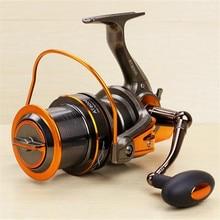Great Fishing Reel Pre-Loading Spinning Wheel Black Brown 12+1 BB Metal 4.6:1 8000S 9000S 690g 720g Soft Plastic Handle