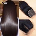 Super barato cabelo humano em linha reta virgem do cabelo 4 pacote com 1 pc swiss lace closure oriente/free/3 parte cabelo virgem peruano reta