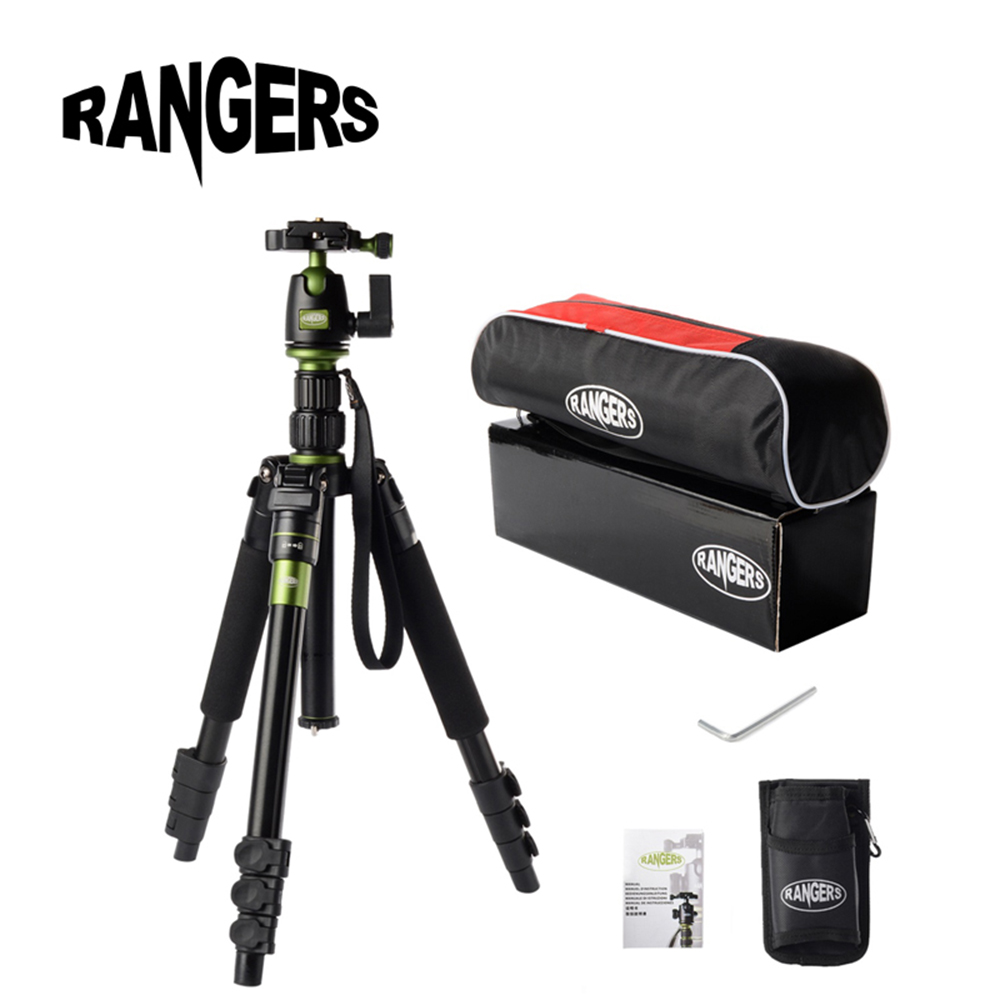 Rangers Professional Tripod Portable Monopod&Ball Head Photography Travel for Digital SLR DSLR Canon Nikon Sony Camera Q555 RA11 original weifeng wf 6662a ball head camera tripod with carrying bag for canon nikon dslr slr