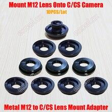10 Pçs/lote Metal M12/CS M12 Rosca Lens Adaptador de Montagem de Liga de Zinco para C CS Montagem Anel Adaptador Conversor para CCTV Segurança câmera