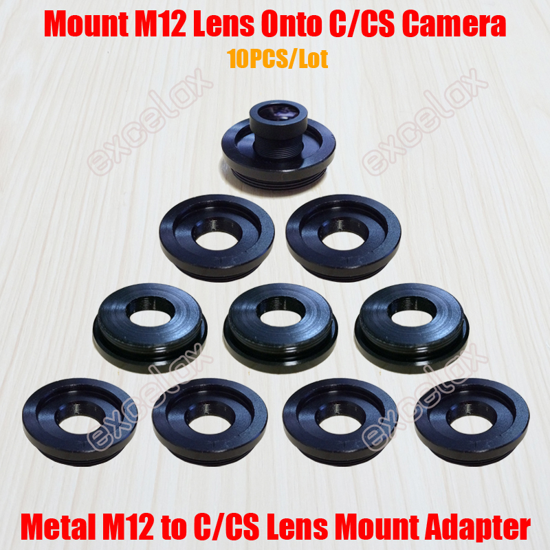Image 1 - 10PCS/Lot Metal M12/CS Thread Lens Mount Adapter Zinc Alloy M12 to C CS Mount Adaptor Converter Ring for Security CCTV Camera-in CCTV Parts from Security & Protection