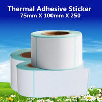 75mm X 100mm Thermal Label Adhesive Stickers 75 100 250pcs Per Roll Thermal Sensitive Adhesive Sticker