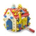 Parafuso brinquedo matemática Montessori brinquedos Educativos de madeira para crianças de 3 anos de idade brinquedo removível casa modelo de montagem de brinquedos de aprendizagem