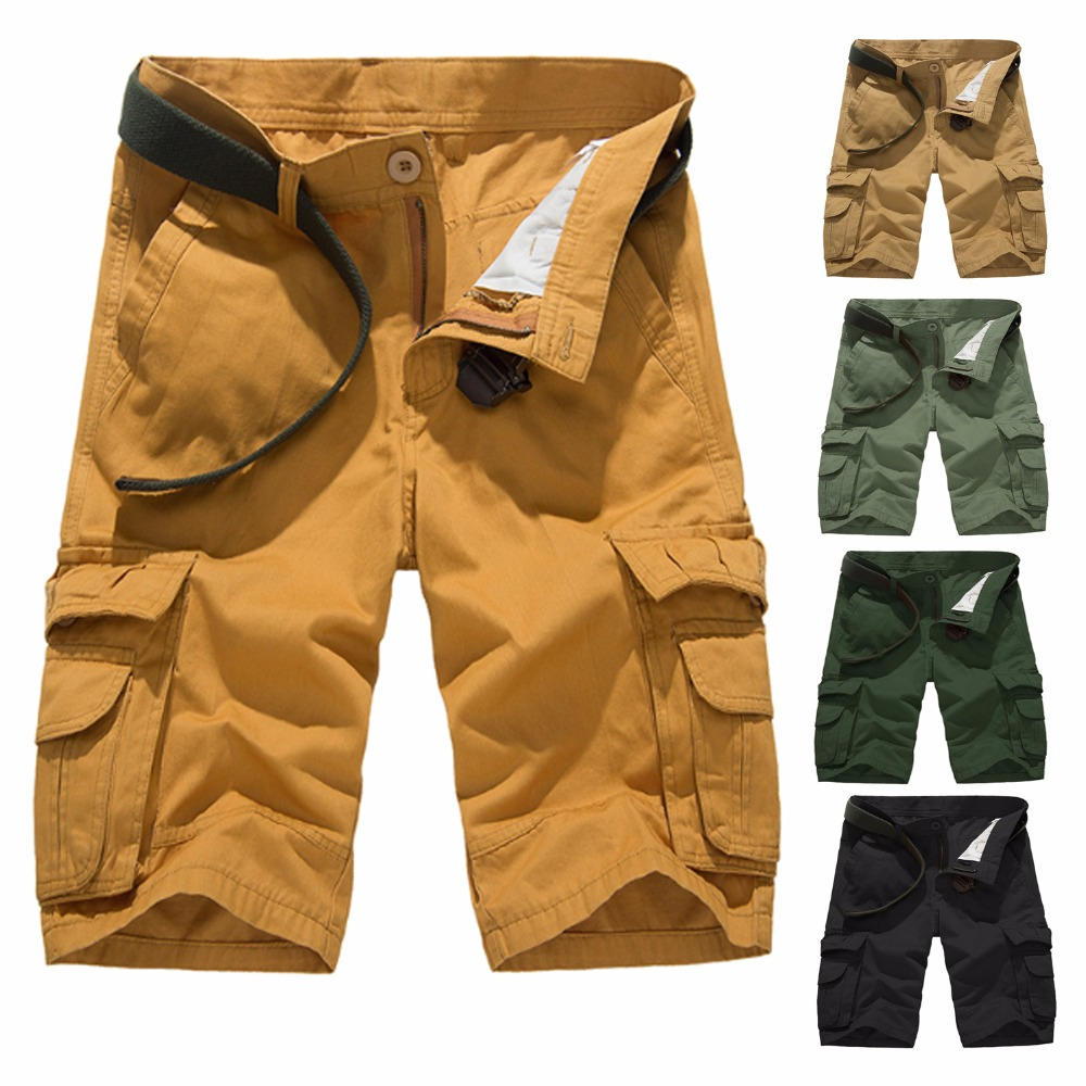 Cargo Shorts Men Clothes 2018 Summer Cotton Short Homme Mens Shorts
