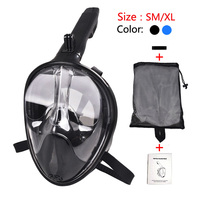 2018 New Foldable Full Face Snorkeling Mask Scuba Diving Mask Underwater Set 180 Degree view For Gopro Camera Swimming Masque