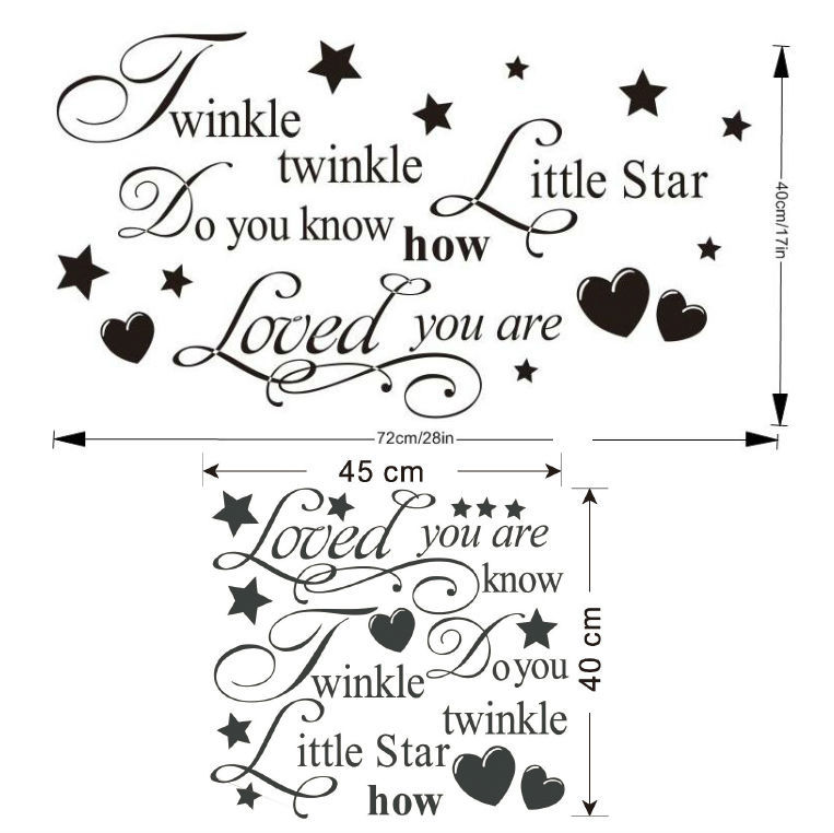 Online Shop Twinkle Twinkle Little Star Wall Stickers Quotes Children  Bedroom Decoration 8064. Removable Diy Vinyl Home Decals Mural Art 2.5 |  Aliexpress ... Part 35