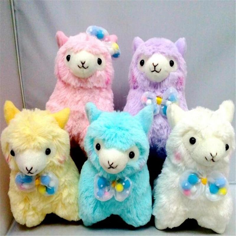 10pc Lot Mixed Color 17cm Japanese Alpacasso popnrlbo Plush Toy Kids Alpaca Christmas Gifts Toy