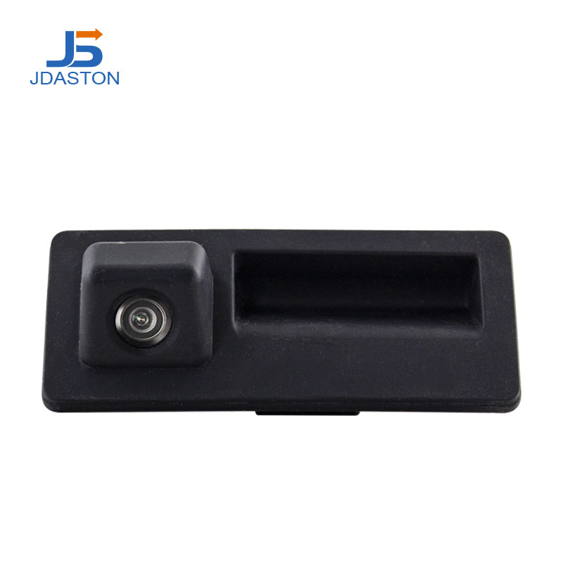 Jdaston CCD HD Car Trunk Handle Rear View <font><b>Camera</b></font> for <font><b>Audi</b></font> A4 A5 S5 <font><b>Q3</b></font> Q5 for VW Golf Passat Tiguan Touran Jetta Touareg B6 B7 image