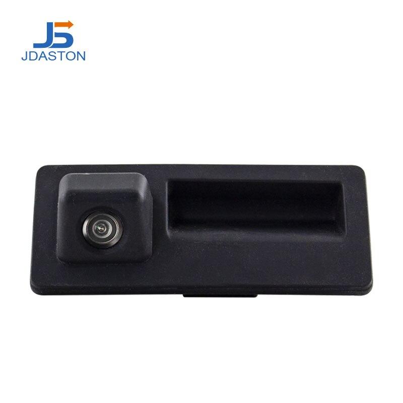 Jdaston CCD HD uchwyt bagażnika samochodu kamera tylna dla Audi A4 A5 S5 Q3 Q5 dla VW Golf Passat Tiguan Touran Jetta Touareg B6 B7