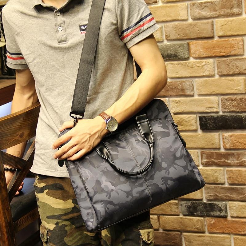 Xiao.p Brand Leisure Men Bag Business Briefcase Handbag Camouflage Shoulder Bag Daily Use 12 13 14