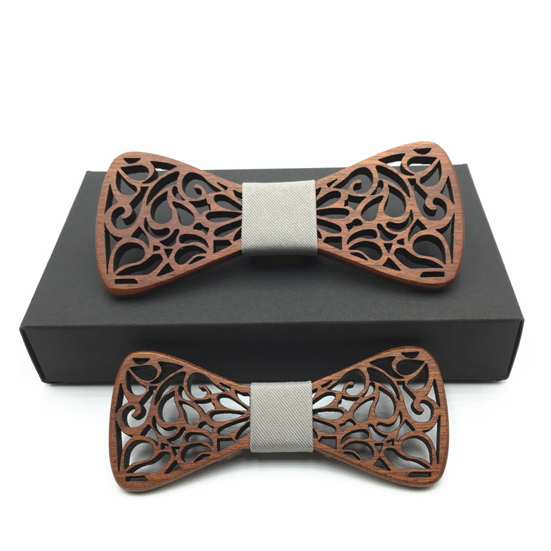 wooden Bow Tie new year father and son ss