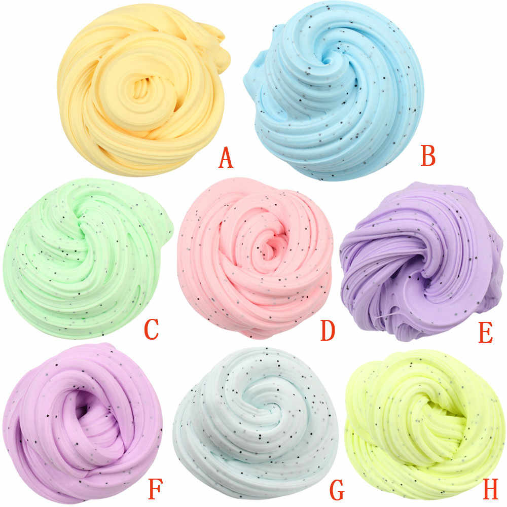 New Arrival DIY Cotton Slime Clay Plasticine Fluffy Slime Stress Relief No Borax Mud Hand Gum Scented Slime for kids