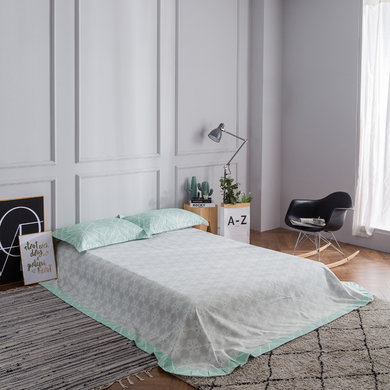 Modern Simple Geometric Pale Turquoise Bedding Set Queen King Size ...