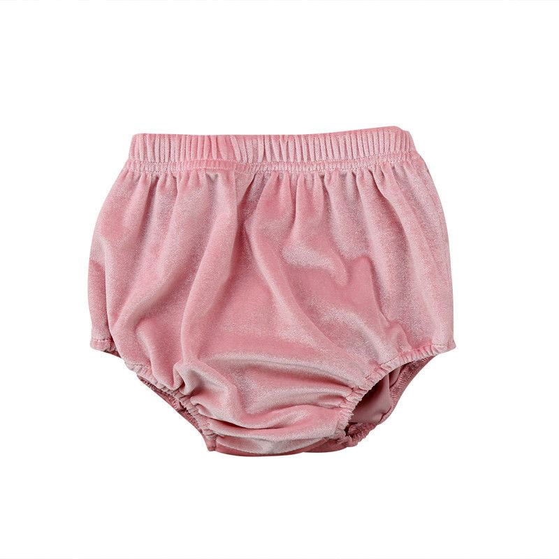 2018 Newborn Baby Boys Girls Velvet Shorts Toddler Infant Kids Solid Cute Casual Summer Bottoms Bloomers Fashion New Sale 0-2T newborn kids skullies caps children baby boys girls soft toddler cute cap new sale