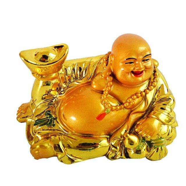 free shipping wealth yuanbao happy laughing maitreya buddha statue