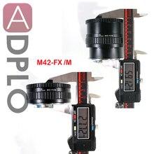 FMTI-justerbar fokuseringsmakro till oändlighetskort för M42-objektiv till Fujifilm Fuji FX-kamera