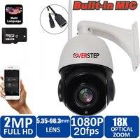 18X оптический зум 1080 P Беспроводная купольная Поворотная ip камера wifi наружная CCTV камера видеонаблюдения Аудио говорящий динамик 80 м ночного