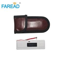 Frete Grátis x1pc Animal ID Leitor 134.2 khz ISO11784/85 injetável RFID scanner USB para vet + x2pcs vidro cápsula tag microchips