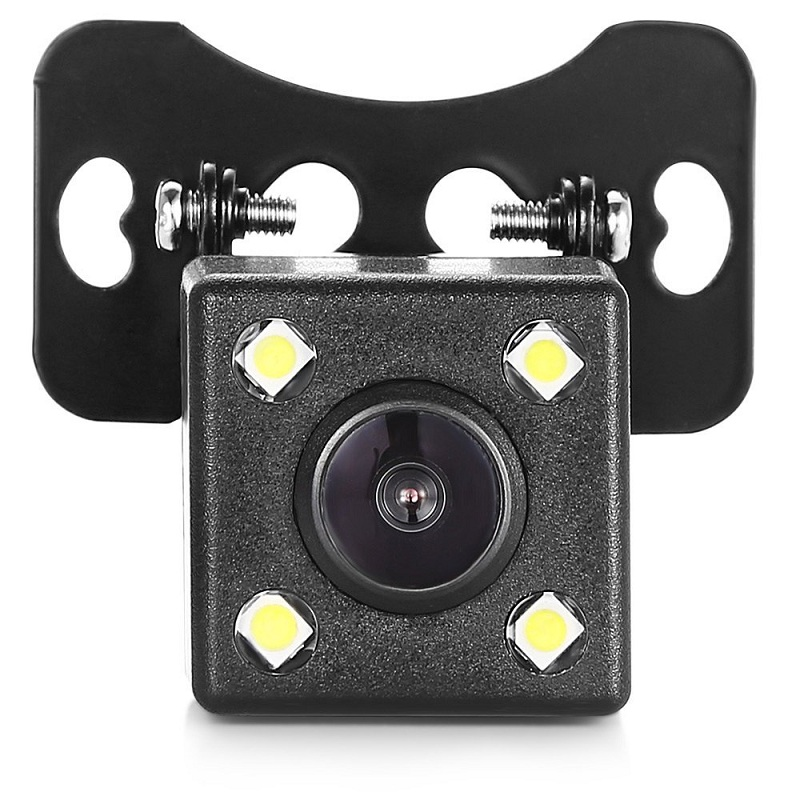 Image 2 - HD Car Rear View Camera 4 LED Lights Rearview Camera Night Vision Auto Parking Cameras Waterproof Vehicle Reverse Camera-in Vehicle Camera from Automobiles & Motorcycles