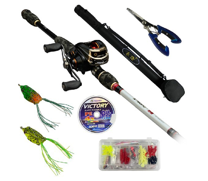 Baitcasting set kopen for How to set up a fishing rod
