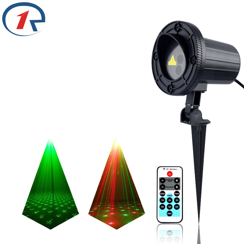 ZjRight IR Remote Sky stars Red Green effect laser lights waterproof outdoor projection laser effect stage light dj disco lights