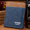 Canvas Wallet Men Money Clips 2016 Newest Short Paragraph Slim Small Students Cross Casual Purse Wallet  Male Package Trend