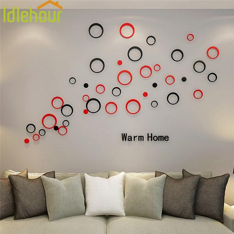 3D acryl cirkel muurstickers voor huisdecoratie Nieuwe muurstickers - Huisdecoratie