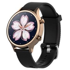 Image 2 - 18mm סיליקון רצועת רצועת השעון עבור Ticwatch c2 Smartwatch עלה זהב גרסה החלפת נשים של צמיד צמיד להקות