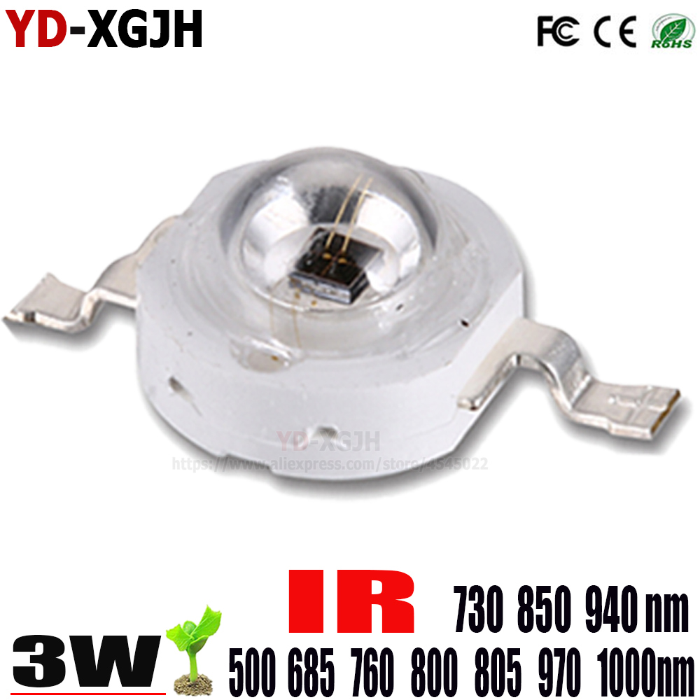 50 pcs 3mm IR infrared LED 850nm Lamp High Power