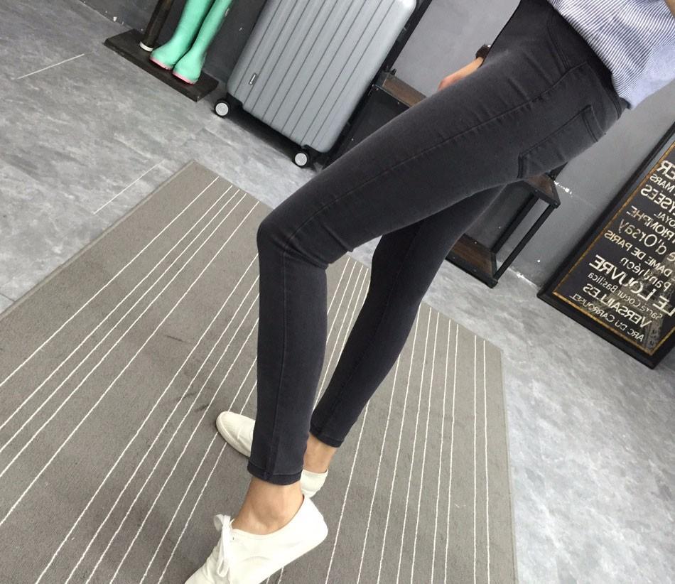 BIVIGAOS Basic Skinny Womens Jeans Ankle Pencil Pants Slim Elastic Denim Pants Jean Leggings Female Cotton Jeggings Jeans Women 22