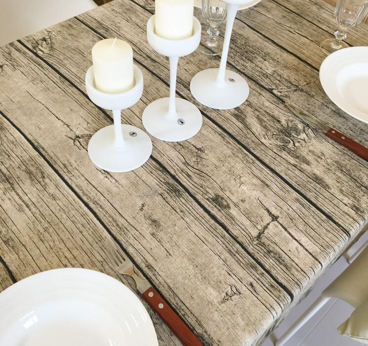 Wood Grain Fabric Table Cloth Nostalgia American Rural