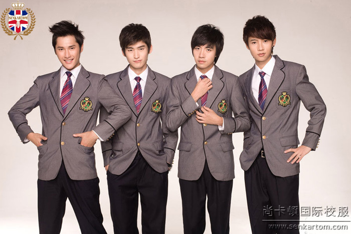 SENKARTOM Men's school uniform sets 4pcs, boy blazer suits,man suits,business blazerset 2 color - Official Store store