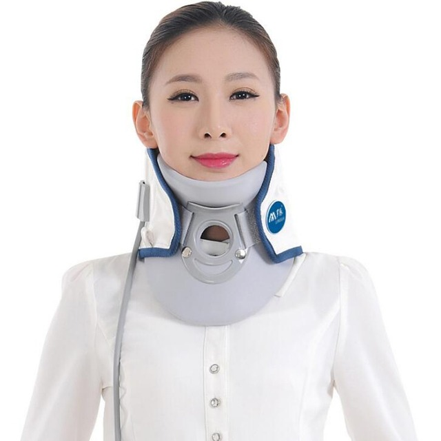 Bone correction Inflatable Neck Care Braces Inflatable Neck Support Senior PU leather cotton fabric