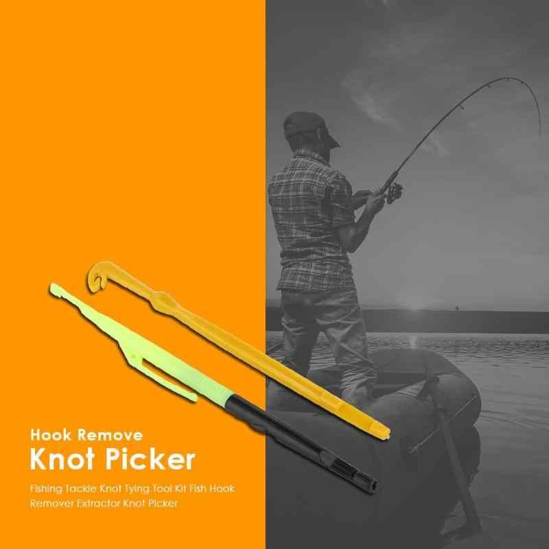 Visgerei Knoop Koppelverkoop Tool Kit Fish Hook Remover Disgorger Afhaken Extractor Knoop Picker Naald Haak Tier