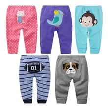 5 Packs Baby Pants Spring Summer Baby Girl Panties Cotton Toddler Boy Clothing Cartoon Newborn Leggings Infant Baby PP Trousers