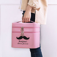 Yesello Large Capacity Cosmetic Bag Multifunctional Portable Travel Cosmetic Case Multilayer Storage Box Portable Cosmetic Case