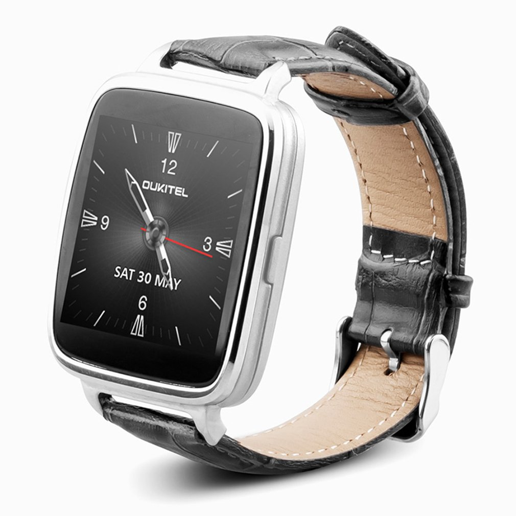 Bluetooth Smart Watch OUKITEL A28 Heart Rate Monitor Pedometer Leather Strap Sports Watch for IOS Android with Gift Box все цены