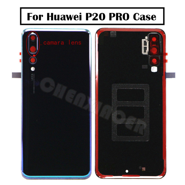 Original GLASS For Huawei P20 PRO Back Battery Cover Rear Door Housing Case  Glass Panel Replacement