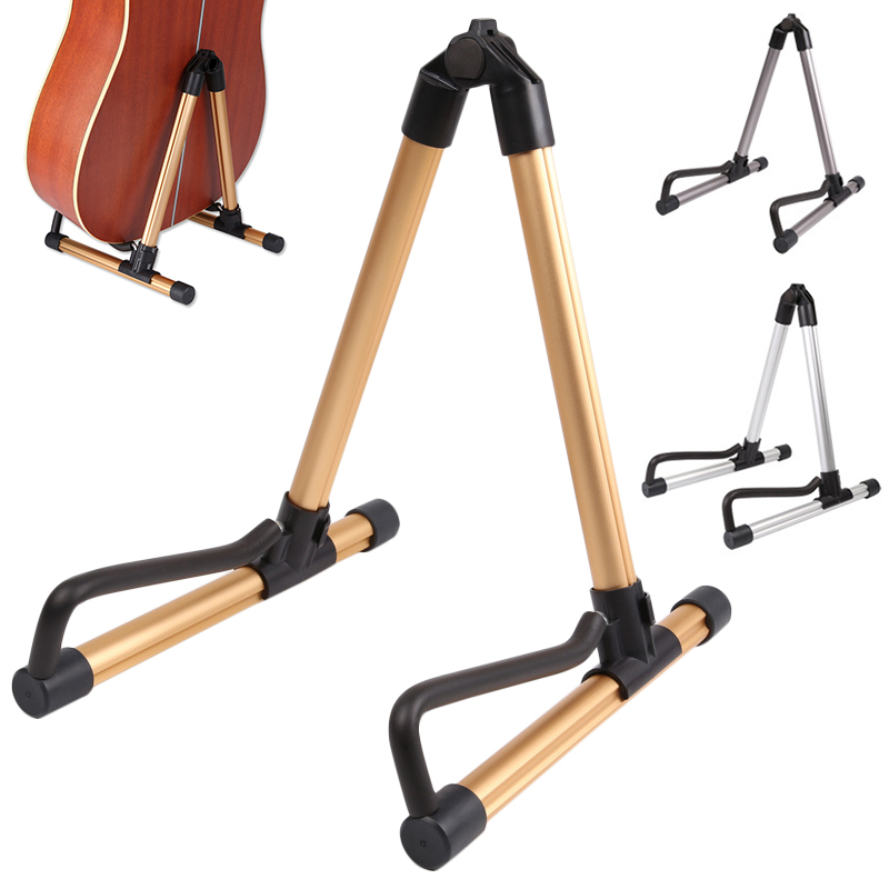 portable guitar stand universal folding a frame guitar holder use for acoustic electric guitars. Black Bedroom Furniture Sets. Home Design Ideas