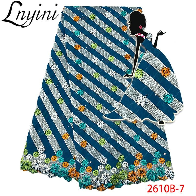 Top vente de haute qualité suisse Voile dentelle 2019 en gros africain 100% coton dentelle tissu pour nigérian robe de mariée L2610B-in Dentelle from Maison & Animalerie    1