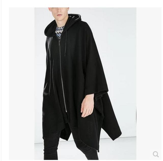 Trench Men Fringed Cape...