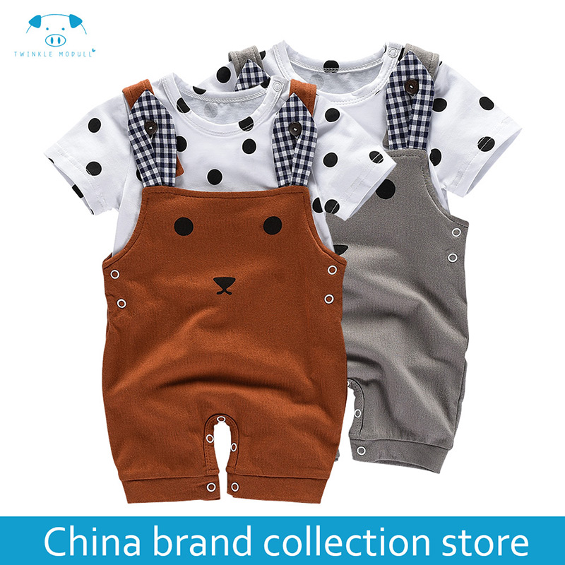 baby clothes summer newborn boy girl clothes set baby fashion baby brand products infant clothing set clothing bebe MD170X034 new summer baby boy clothes infant short sleeved cartoon romper girl newborn cotton jumpsuit outfit 2017 brand bebe clothing set