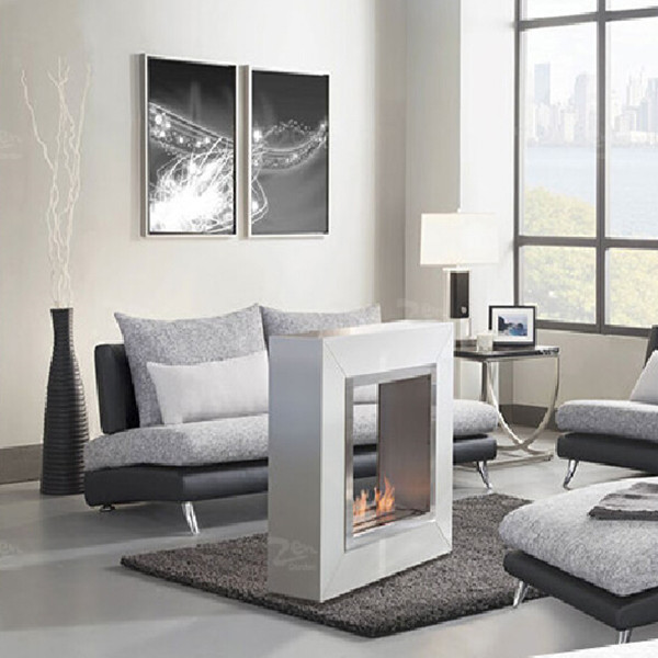 Free Shipping To Thailand Philippines Vietnam 304 Stainless Steel Freestanding Bio Ethanol Fireplace China In Electric Fireplaces From Home Liances On