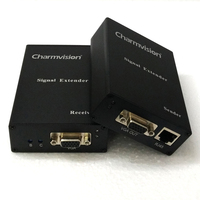 Charmvision EV300HR 300 meters Audio VGA extender with 3.5mm AUX outport sharpness brightness adjustable via UTP STP cat5e cable