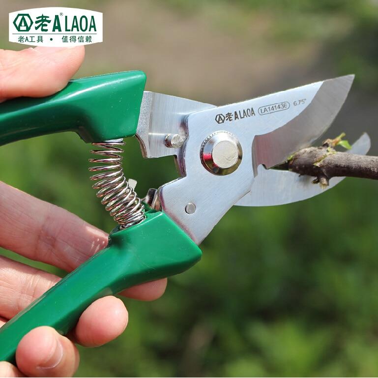 Laoa Brand Tree Pruners High Quality Stainless Steel Gardening Scissors Garden Pruning Tools Ring Men Stainless Steel  цены