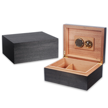 LUXFO 50CT Humidor Box cedar Wood Lined Hygrometer Humidifier Smoking Cigar Accessories Gifts
