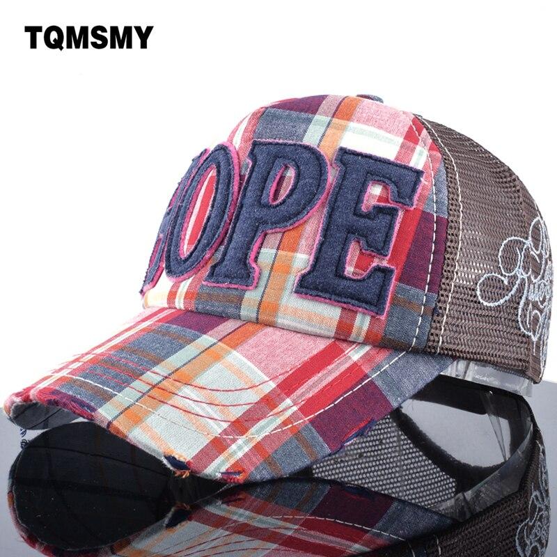 TQMSMY bavlněná mřížka dopis HOPE Mesh Snapback Dry Quick Baseball cap pánské dámské sluneční čepiceS dýchatelná nastavitelná kazeta TMWL11